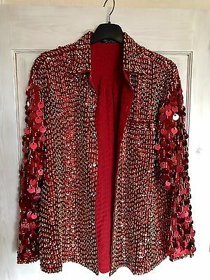 Stage Sequins, Beads & Discs Shirt. Theatre Or Stage Costume
