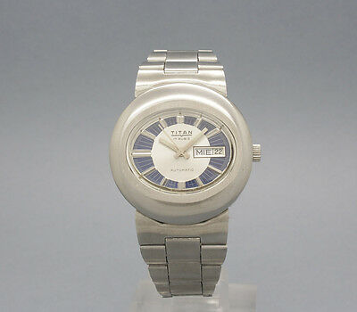New Old Stock 39,5mm Very Rare TITAN Spanish vintage AUTOMATIC watch NOS AS 2066