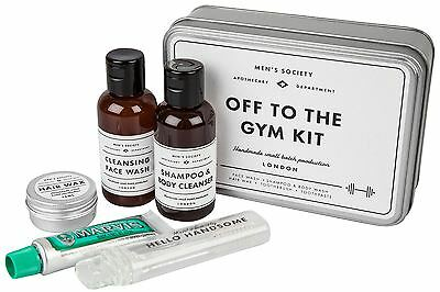 Men's Society Off to the Gym Kit in a Tin Workout Travel Fathers Day Gift Set