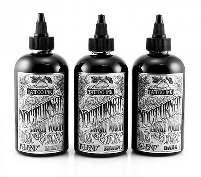 100% Authentic NOCTURNAL Tattoo Ink-West Coast Blend Set of 3 x 1oz UK Supplier