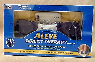 Aleve Direct Therapy Tens Device Wireless Relief Lower Back Pain NEW SEALED