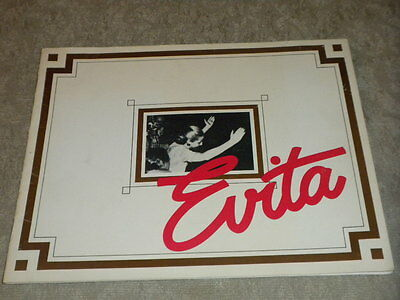 "1980 EVITA orig Broadway photo Booklet w lyrics 9 1/4""x11 3/4"" w Derin Altay VG"