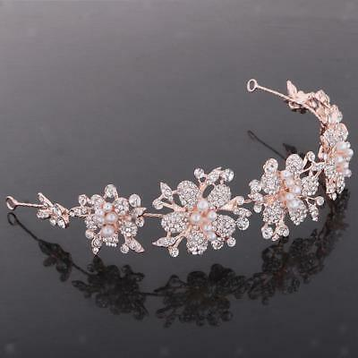 Lady Girl's Flower Pearl Headband Headpieces Hair Accessories Costume