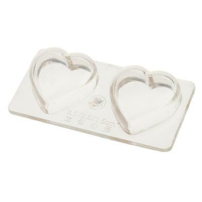 2 Cell Candle Mold VALENTINE HEART Soap Jelly Wax Chocolate Cake Decor Mould