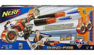 Nerf N-Strike Elite Rhino-Fire Blaster with 50 Darts! - Brand New & Boxed