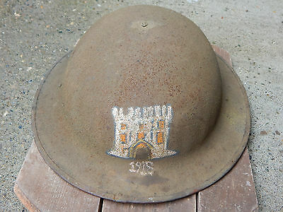 WWI WW1 US HELMET ENGINEEERS 1918 DOUGHBOY VERY GOOD CONDITION w/ COMPLETE LINER