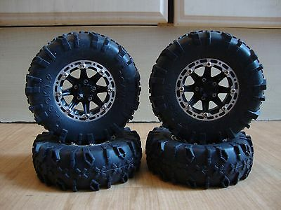 4 X Unknown Brand Alloy 1.9 Beadlock Wheels With Rc4Wd X Lock Tyres Rc4Wd Axial