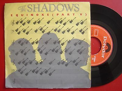 THE SHADOWS equinoxe part V / fender bender SPANISH 45 POLYDOR 1980