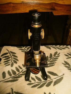 E. Leitz Wetzlar Germany Brass Microscope EARLY model 1907 per Ser#