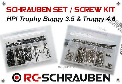 Screw Set for the HPI Trophy Buggy 3.5 & Truggy 4.6 - Stainless Steel & Steel