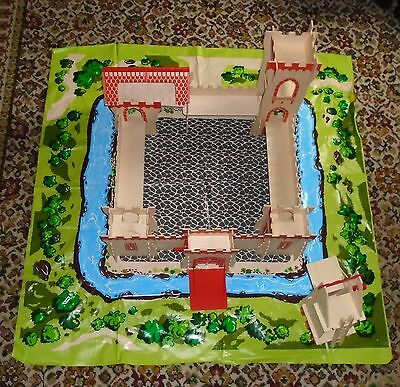 ELC Wooden Medieval Knights Castle. Playmat & Siege Tower. Both 100% Complete.