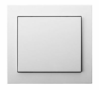 Single Big Button Indoor Light Switch Click Wall Plate Various Colours