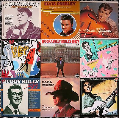 Top Sammlung 36 Rock ´n´ Roll / Rockabilly / Neobilly / Country Lps