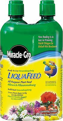 Miracle-Gro LiquaFeed All Purpose Plant Food Refill Bottles - Pack of 2