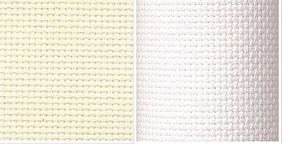 18 ct DMC Aida WHITE / ECRU for cross stitch-Choice of Sizes