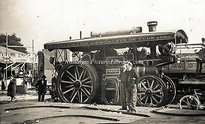 """TR 78   STEAM TRACTION ENGINE No 1623 """" GOLIATH  """" AT GOOSE FAIR 1952"""