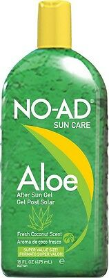 NO-AD Aloe After Sun Gel 475ml Soothing Cooling Aloe Vera
