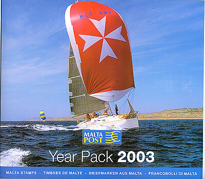 Malta Year Pack 2003  fine Post Office Fresh Mint never hinged Stated Cat £70+