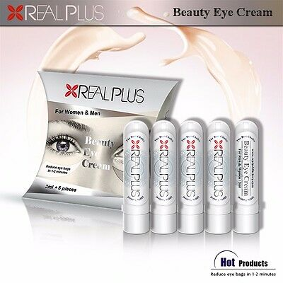 5x3ml X REAL PLUS Eye Anti Wrinkle Filler Cream Collagen Removes Baggy Eyes 5