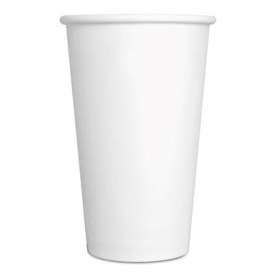 Paper Hot Cups, 16 oz, White, 1000/Carton 16HOTCUPWH