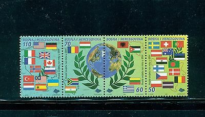 Bosnia (Bosniak govt) 1997 World Pace Day strip (flag topical) #280 CV $4.50