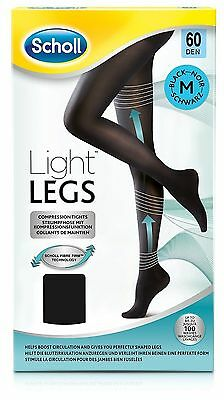 Scholl Light Legs Compression Tights 60 DEN M Medium Black FIBRE FIRM