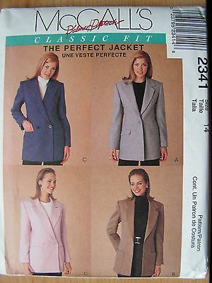 McCall's Sewing Pattern-Misses' Lined JACKET-BLAZER-Classic Fit-Size:12-UNCUT