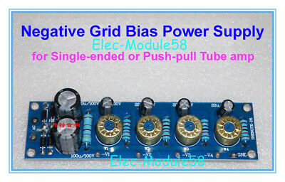 4-Way Electron Tube Amp Negative Grid Bias Power Supply Board fr SE or Push-pull