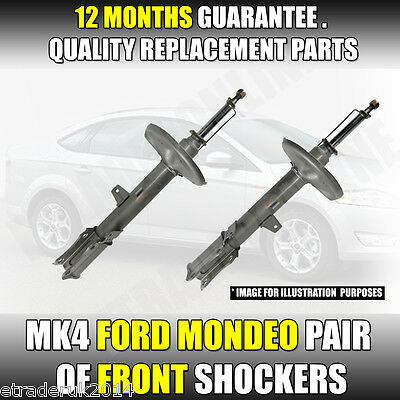 Ford Mondeo IV MK4 FRONT Shock Absorbers Shocks Shockers Struts Quality Pair NEW