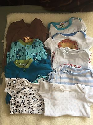 "Pre-loved/ 0-3 Month/boy ""sleepwear"" Clothes Bundle B2"