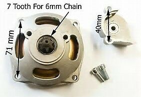 mini moto 49cc clutch with 7 tooth pinion new