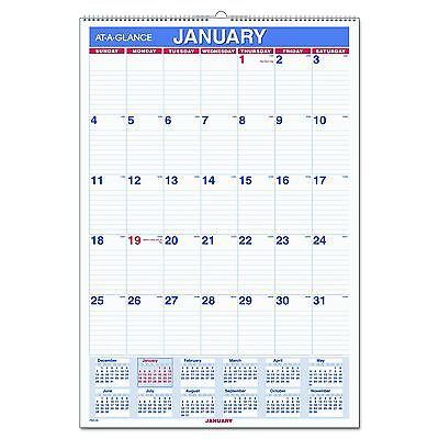 """AT-A-GLANCE Wall Calendar 2017 Monthly 15-1/2 x 22-3/4"""" Wirebound (PM328)"""