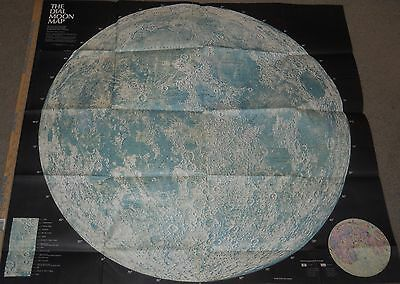 """Very Rare ~ The Dial Moon Map poster vintage large 42"""" x 37"""" celestial space #5C"""