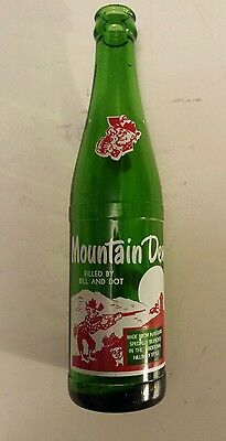 "Rare (Style#1-One Side) American ""mountain Dew"" 10 Oz ""filled By Bill And Dot"""