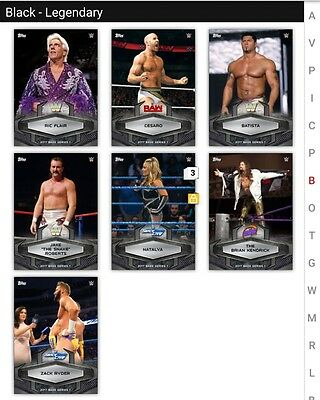 Topps Slam BLACK Base Lot of 9 Parallels *Digital Cards*