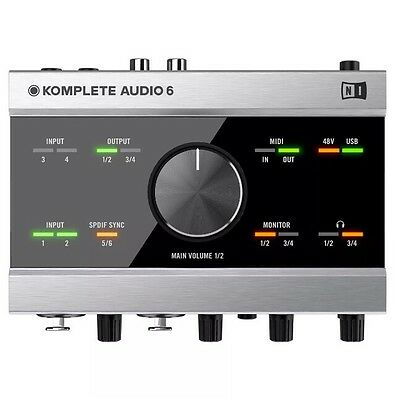 Native Instruments Komplete Audio 6 USB Audio Interface With DAW &  DJ Software
