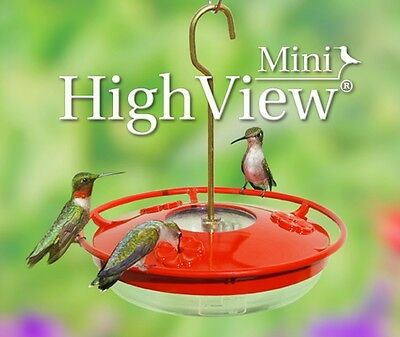 Aspects 430 Hummzinger 8 oz Mini High View Hummingbird Feeder, Attracts Hummers