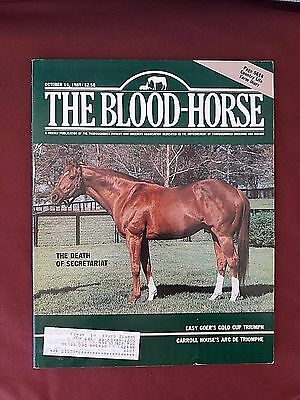 The Death of Secretariat The Blood Horse Magazine October 14 1989