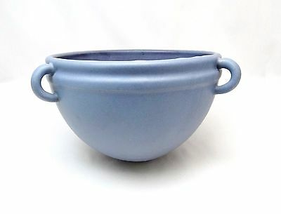 Marblehead Pottery Arts & Crafts Matte Blue Violet Hanging Round Planter