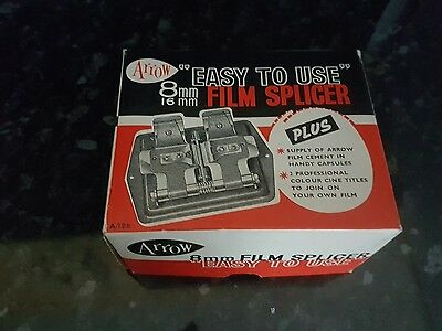 Vintage Arrow 8mm 16mm Film Splicer Joiner - Original Box