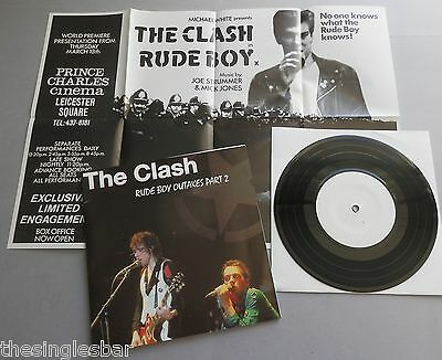 "The Clash - Rude Boy Outakes Part 2 7"" Single + Poster Fold over sleeve"