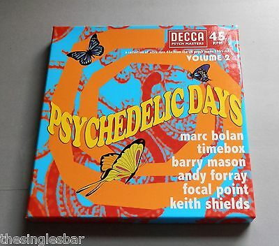 """Psychedelic Days Volume 2 - 6 x 7"""" Box Set Marc Bolan Timebox Focal Point"""