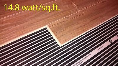 "Infrared floor heating film 220V, width 31 1/2"", 14.8w/sq.ft"