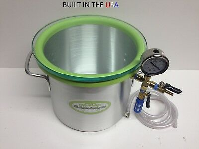 3.0- Gallon Aluminum SlickWoodVac Wood Stabilizing Chamber.