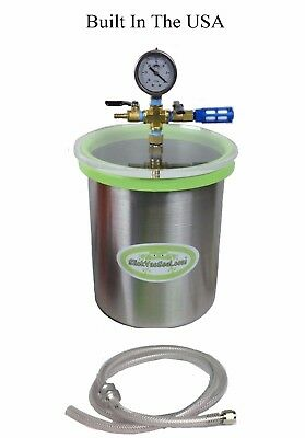 1.5 Gal Stainless Steel (SS)  Vacuum Chamber + W-SlickVacSeal