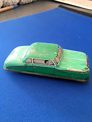 Vintage Tinplate GTP Glam Toy saloon car, made in England- LOOK!
