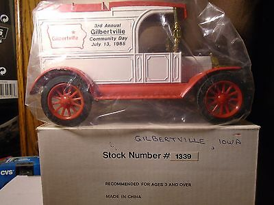 Gilbertville ,IOWA Ford 1913 Model T Van  Diecast ERTL Truck Bank  Stock # 1339