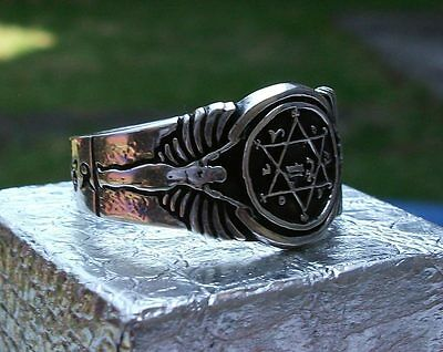 King Solomon Ring of Power Prosperity, solid silver .925 Handmade, ask for Gold