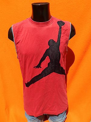 JORDAN T Shirt Tank Top Sleeveless Nike Air Jumpman NBA Basketball Dream #23 JO