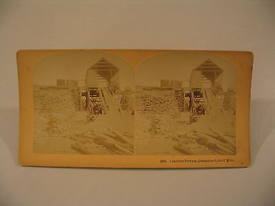 Stereoview Photo cdii Charters Towers Queensland Australia Gold Mine Mining